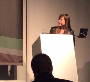 Anna Sale from WNYC's Death, Sex and Money podcast, speaking at Radiodays Europe 2015