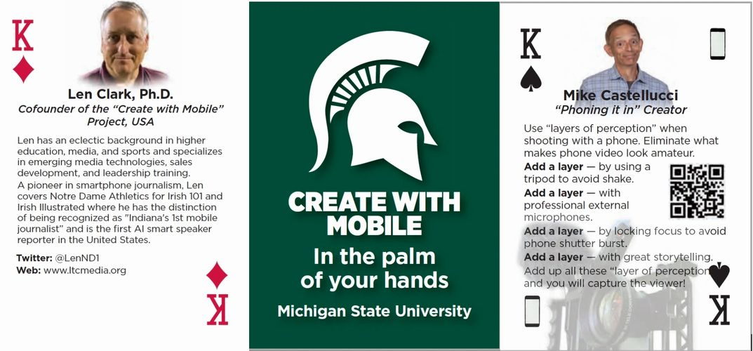 Create With Mobile playing cards