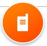 Orange walkie talkie icon